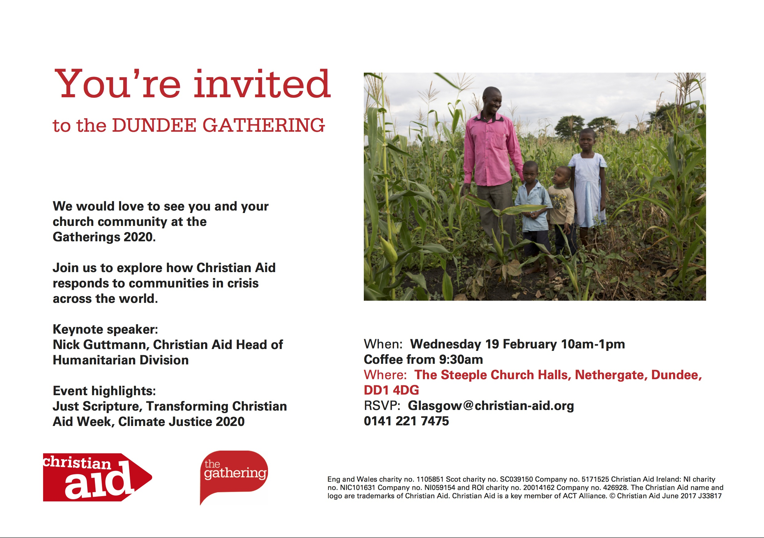 Dundee Christian Aid gathering